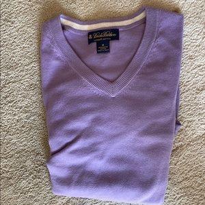 Brooks Brothers lavender cotton sweater. V neck.